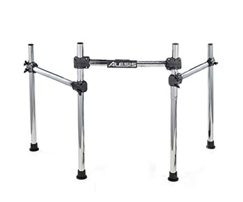 (Alesis DM10 Electronic Drum Rack with 2 Cymbal Arms [ Compatible w/DM4, DM5, DM6, DM7, DM8 and most other Alesis/Roland/Yamaha/Simmons/Ion Sets])