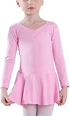 LIOOBO Vestidos para niñas Trajes de Ballet Gimnasia Leotardo ...