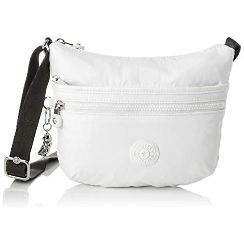 chollos oferta descuentos barato Kipling Arto S Bolso Bandolera para Mujer Blanco White Metallic 25x21x3 cm