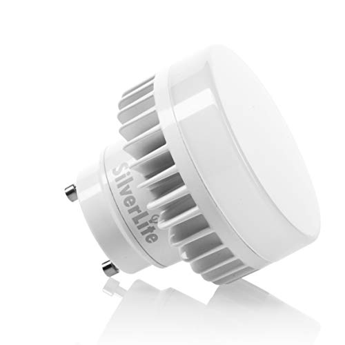 Silverlite 9w LED Mini Puck GU24 Light Bulb Triac Dimming,18w Low Profile Spring CFL Equivalent,50000hrs,800LM,Warm White(3000K),120V,Suitable for Totally Enclosed Indoor&Outdoor Fixture,UL Listed