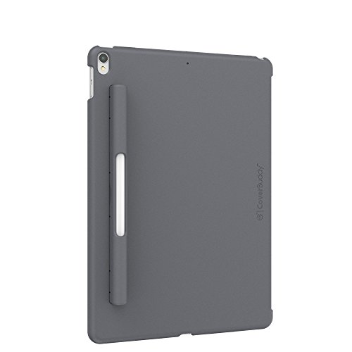 SwitchEasy 2019 iPad Air 3 Case, CoverBuddy Back Cover with Pencil Holder for iPad Air 3rd Generation and iPad Pro 10.5-inch. Compatible with Smart Keyboard, Smart Cover and Apple Pencil (Space Gray)