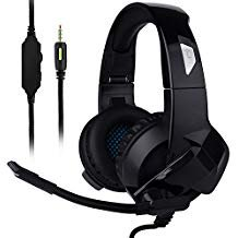 Handset Call Master - Ceppekyy Gaming Headset for Xbox One, PS4, Nintendo Switch, Laptop, PC, Mac, iPad and Smart Phones - Stereo Surround Sound&Noise-Cancelling, with Microphone