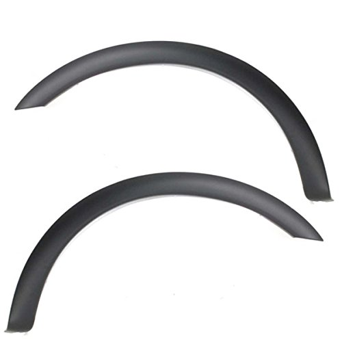 (Partomotive For 97-04 F-Series Front Fender Flare Wheel Opening Molding Trim Left Right SET PAIR)