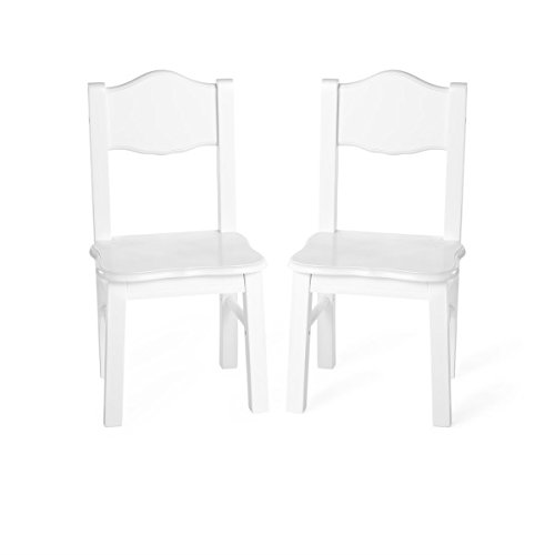 Guidecraft Classic Extra Chairs (Set of 2) - White: Kids School Educational Supply Furniture