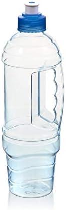 Arrow Home Products Garrafa de viagem H2O, 1 L, transparente com tampa azul