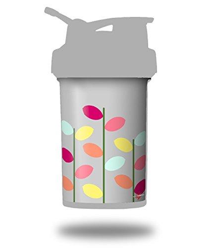 Plain Leaves On Gray - Decal Style Skin Wrap fits Blender Bottle 22oz ProStak (BOTTLE NOT INCLUDED)