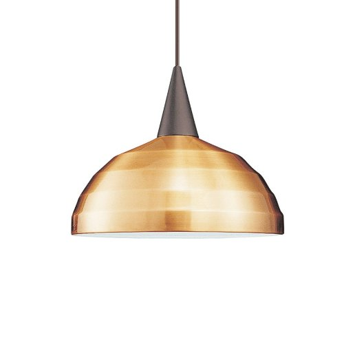 WAC Lighting PLD-F4-404CO/WT Felis 1-Light MonoPoint Pendant with Copper Shade and White Finish 1 Light 120v Monopoint Pendant