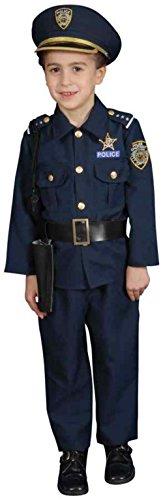 UHC Little Police Officer Uniform Toddler Kids Fancy Dress Halloween Costume, 3T-4T