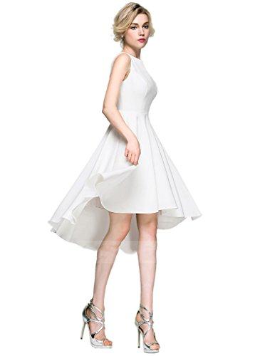 JYDress - Vestido - trapecio - para mujer champán