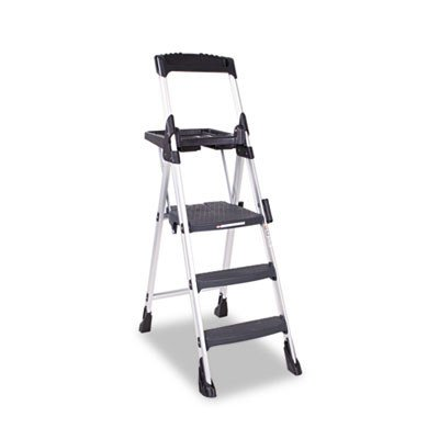 Worlds Greatest 5.75 ft Aluminum Folding Step Ladder with 300 lb. Load Capacity