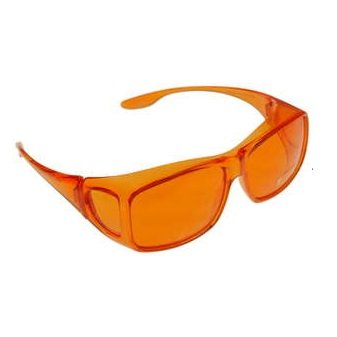 Color Therapy Glasses Fits Over Prescription Glasses (Orange)