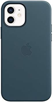 Apple Leather Case with MagSafe (for iPhone 12 | 12 Pro) - Baltic Blue