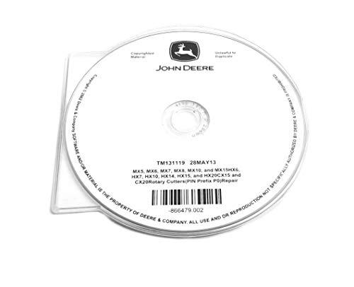 John Deere MX/HX/CX Series Rotary Cutters Technical Manual CD - TM131119CD