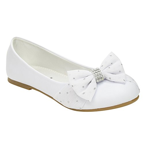 JELLY BEANS Coca Girls Strap Metallic Studs Dress Flat Shoes