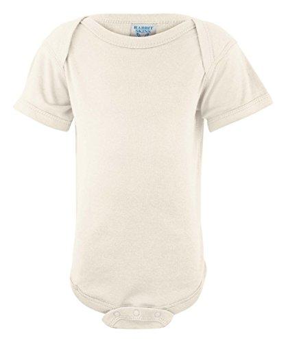 Rabbit Skins Infants'5 oz. Baby Rib Lap Shoulder Bodysuit, 6MOS, NATURAL