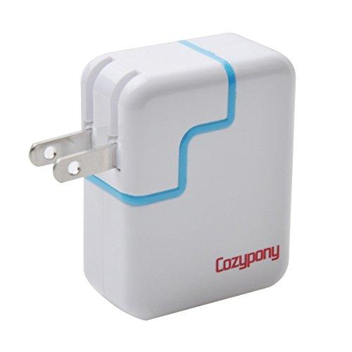 Cozypony Travel Wall Charger Dual-Port USB Portable Power...