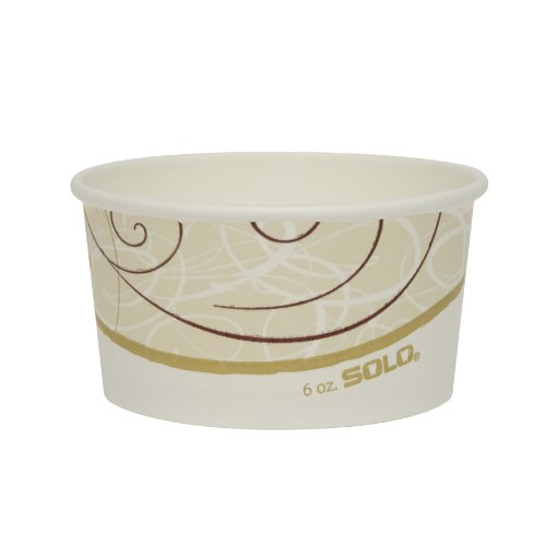 SOLO VS506X-J8000 VS Symphony Single-Sided Poly Paper Food Container, 6 oz. Capacity (Case of 1,000) by Solo Foodservice
