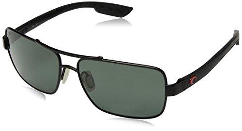 Costa Del Mar North Turn Sunglasses, Gunmetal/Matte Black, Gray 580 Plastic - Turn North