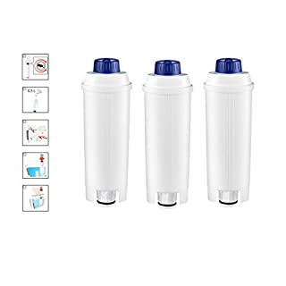 NRP Premium Water Filter Cartridges Replacement for Delonghi Automatic Coffee Machine Most Series | 3-Pack Coffee Water Filter DLSC002, SER3017