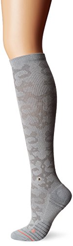 Stance Women's La Sagrada Premium Antimicrobial Arch Support Athletic Over the Calf Sock, Silver, M