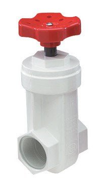 King Brothers Inc. GVP-1000-T 1-Inch Threaded PVC Schedule 40 Gate Valve, White
