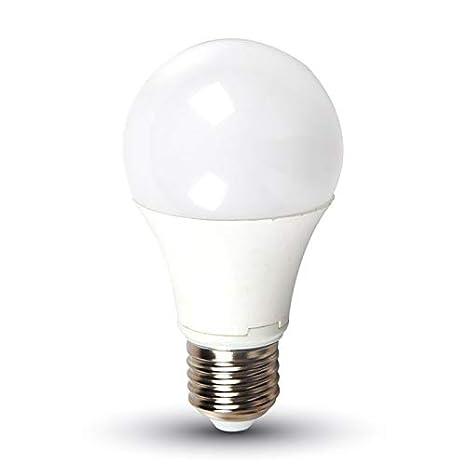 Kit 10 Bombillas LED 9 W Bulb A58 Chip Samsung V-TAC Pro Casquillo E27 vt-209 4000 K Sku 157: Amazon.es: Iluminación
