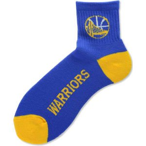 For Bare Feet NBA Golden State Warriors Youth Team Color Ankle Socks - Royal Blue/Gold