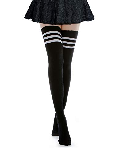 Kayhoma Long Cotton Mid Thigh High Socks Over the Knee High Boot Stockings Cotton Leg Warmers]()