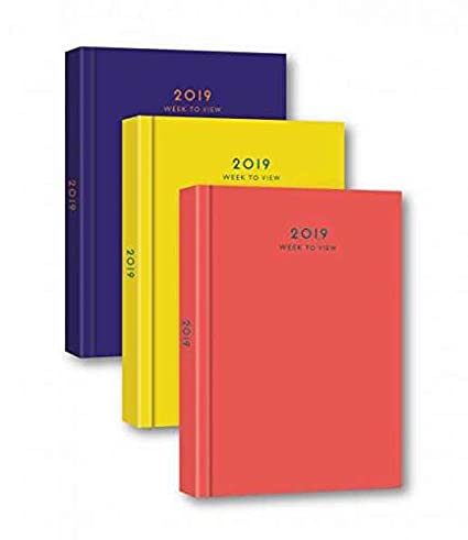 Black//Blue//Red 2019 A4//A5//Slim Day per page//Week To View Hardback Desk Diary