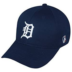 (MLB Replica Adult Baseball Cap Various Team Trucker Hat Adjustable MLB Licensed , Detroit Tigers - Home)