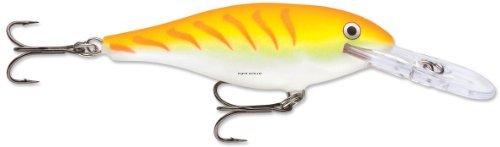 Rapala Shad Rap 5 Fishing Lure, Shad Rap 5 Orange Tiger UV, 2-Inch