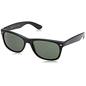 Ray-Ban Women's New Wayfarer Square Sunglasses, Black, 58 mm