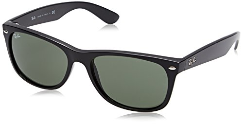 Ray-Ban Women's New Wayfarer Square Sunglasses, Black, 58 - Sunglasses Black Ray Wayfarer Ban
