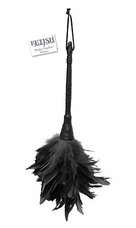 Fetish fantasy series frisky feather duster - black (Package Of 4) by superkrit