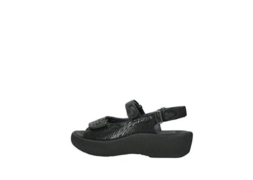 Sandals 70000 Womens Canals 3204 Black Jewel Wolky Leather ZxfSnwZ1