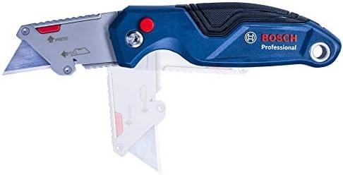 Bosch Professional Universal Klappmesser mit Klingenfach im Metall-Griff ink...