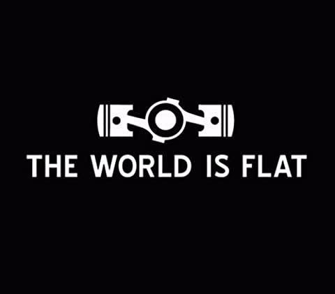The World Is Flat Subaru Sticker Decal Car Vinyl JDM illest Stance STI White, Die cut vinyl decal for windows, cars, trucks, tool boxes, laptops, MacBook - virtually any hard, smooth (Illest Sticker White)