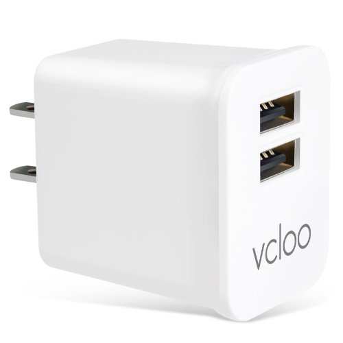 2.1 A 2-Port USB Wall Charger with Foldable Plug for iPhone, iPad, Samsung Galaxy S6 / S6 Edge, Nexus, HTC M9, Motorola, LG and More