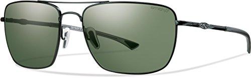 Smith Nomad Sunglasses Matte Black / Polarized Gray Green Chromapop+ Polarized