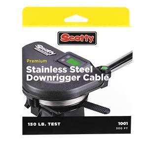 Scotty HP SS DwnRgr Cable,180lb, 300ft Spl, kit 2401K