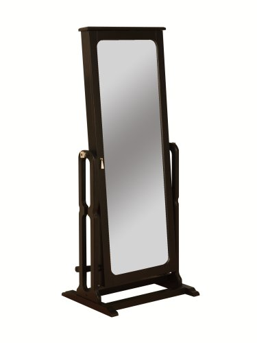 Powell Dakota Cheval Jewelry Wardrobe with Full-Length Mirror, Antique Black