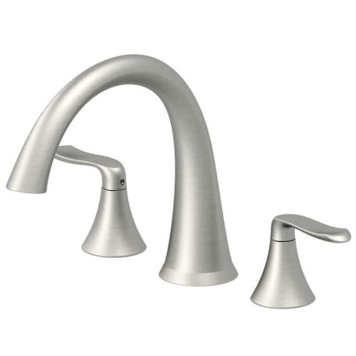 Jacuzzi MX2282 Piccolo Deck Mounted Roman Tub Filler Faucet with Metal Lever Han, Brushed Nickel