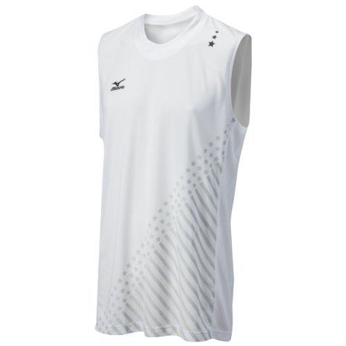 Mizuno Men's National VI Sleeveless Jersey, White, X-Small