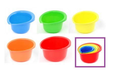 Purchase (Set of 5) Plastic Mixing Bowls with Pour Spout - .9, 1½, 2½, 4, and 5½, Quart opportunity