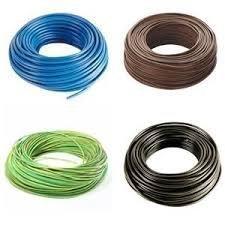 Cable elé ctrico unipolar N07 V-K, cable de 1 x 2,5 mm² , aislado con PVC, 4 bobinas de 50 metros, color marró n/negro/azul/amarillo/verde, flexible cable de 1x 2 5mm² 4 bobinas de 50metros d&s megastore