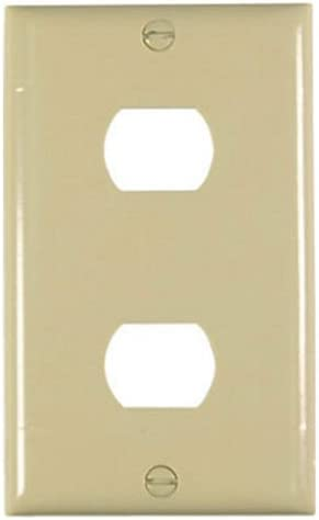 Legrand-Pass /& Seymour K2I Plastic Despard Opening Wall Plate Two Horizontal Opening Per Gang Includes Mounting Straps