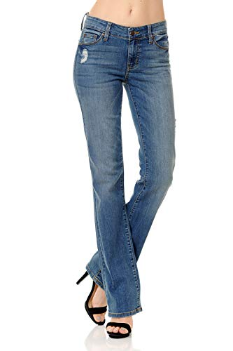 (Urban Look Women's Basic Low Rise Slim Boot-Cut Jeans 0~3XL (13, Medium))