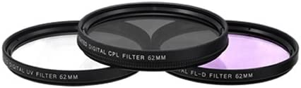 Digital Filter Set for Olympus 18-180mm f//3.5-6.3 ED Zuiko Digital Zoom Lens and More Models eCost Microfiber Cloth 62mm High Resolution Pro Series Multi Coated HD 3 Pc