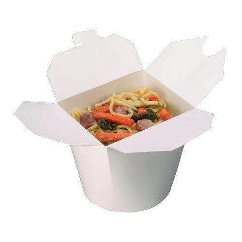 Thali Outlet® 500 x Blanco 26oz Redondo Papel Noodle Pots ...