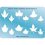Cool Tools - Jewelry Shape Template - Paired Leaves 2